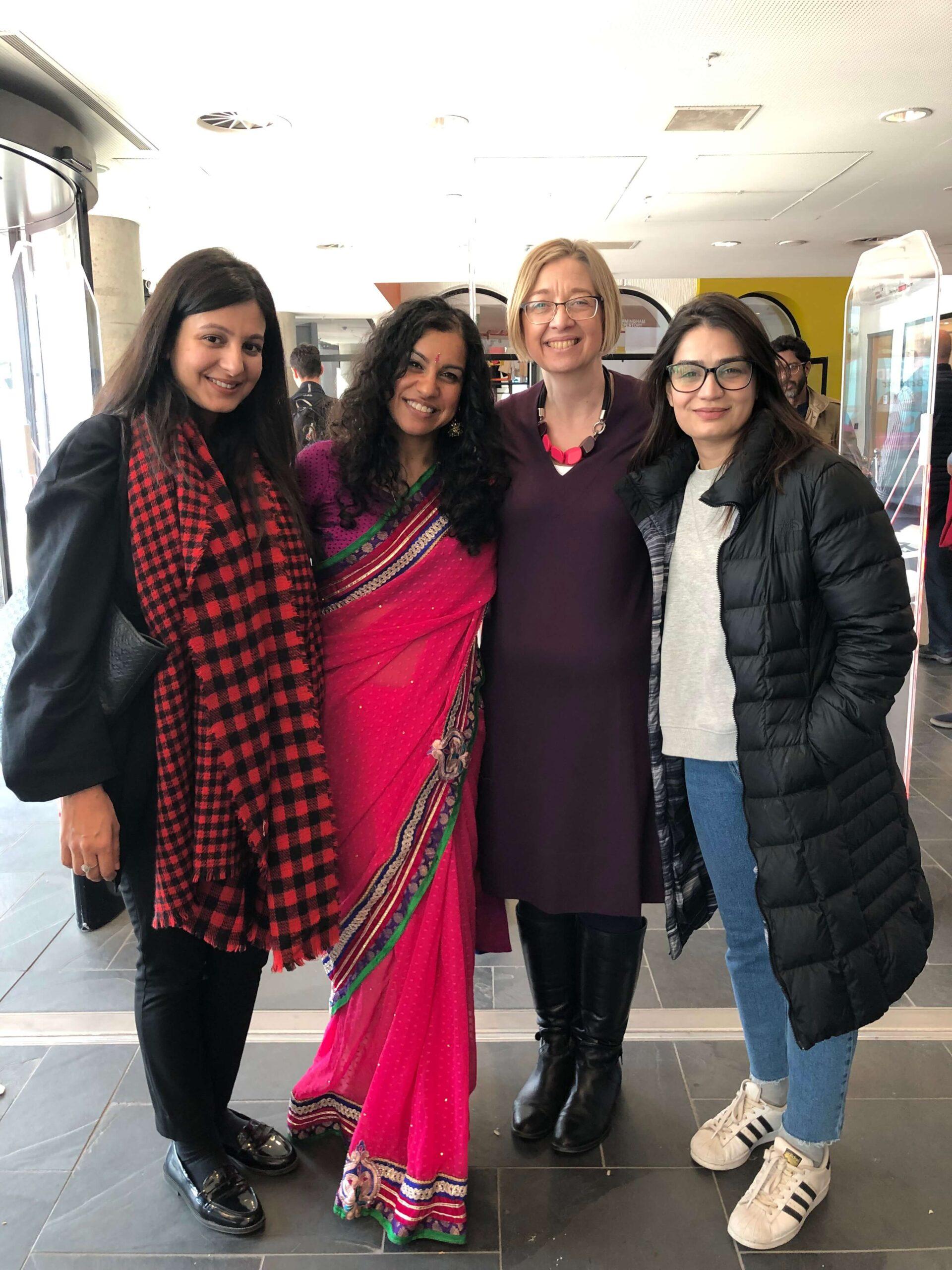 Hiba, Sophina, Janine, Aniqa at the launch of Bangladesh to Birmingham